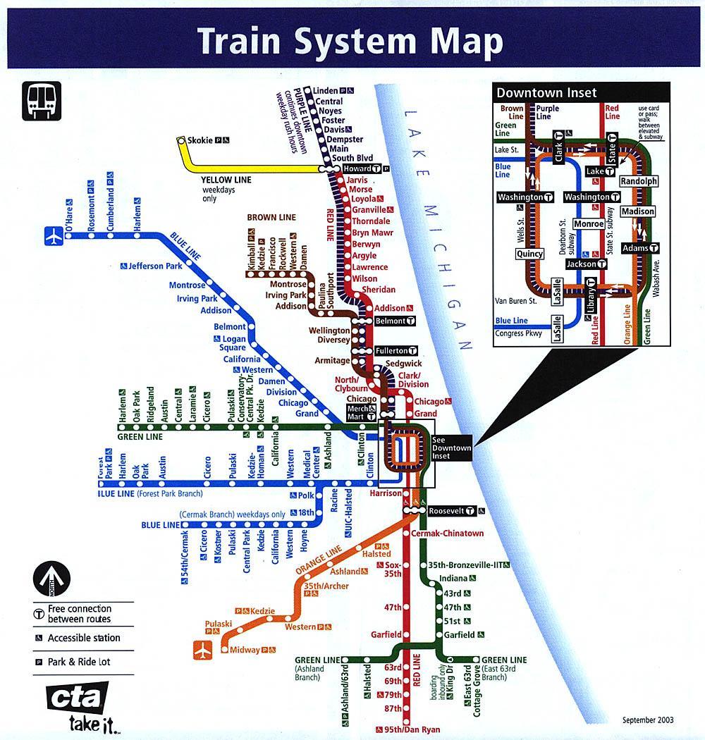 Denver Pdf Indonesia: Chicago Train System Map (United