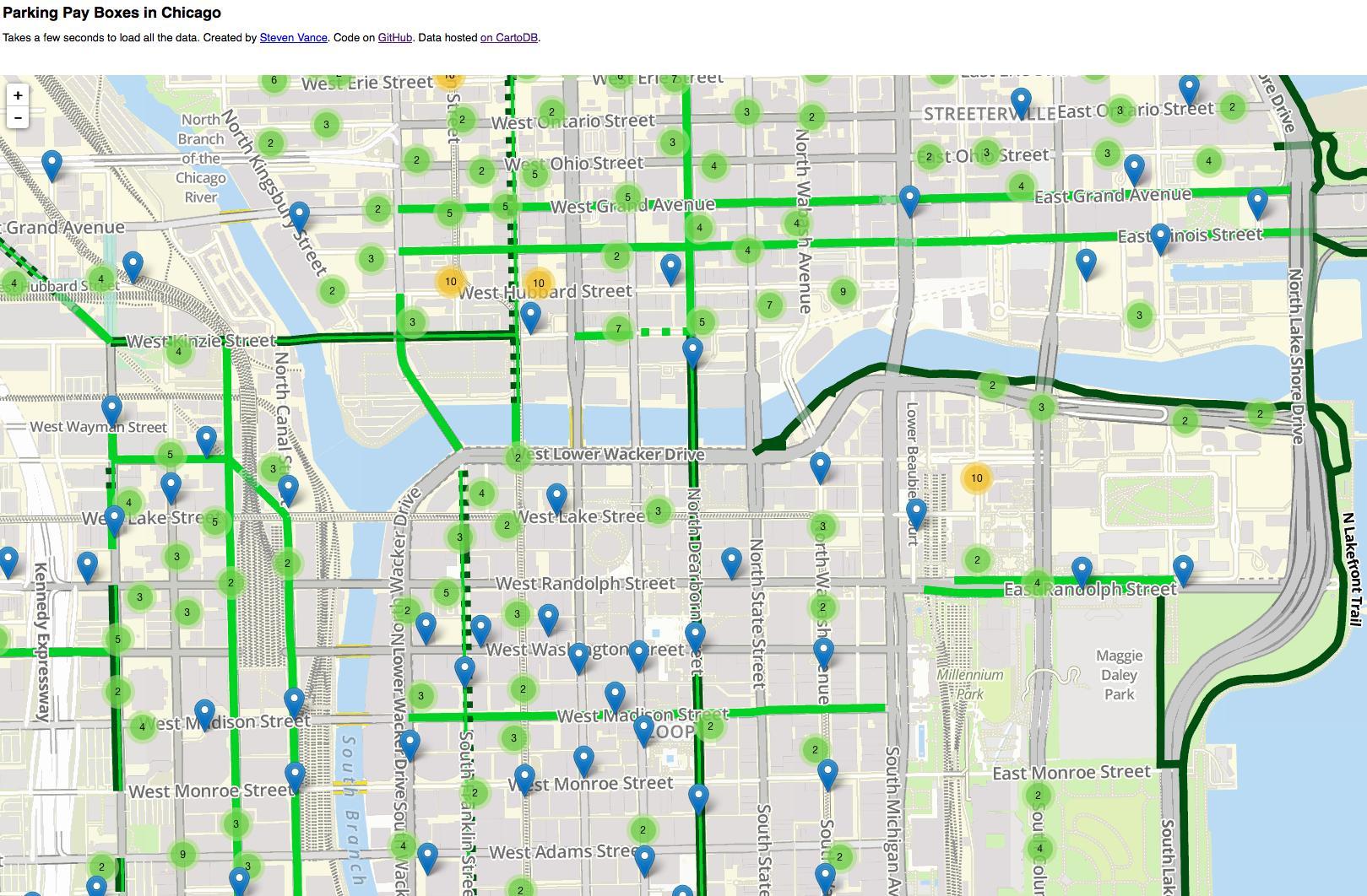 Chicago Parking Zone Map Chicago parking map   Chicago parking zone map (United States of