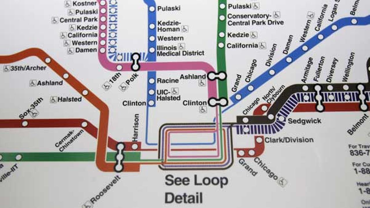 Cta Subway Map Chicago.Cta Blue Line Map Chicago Subway Map Blue Line United States Of