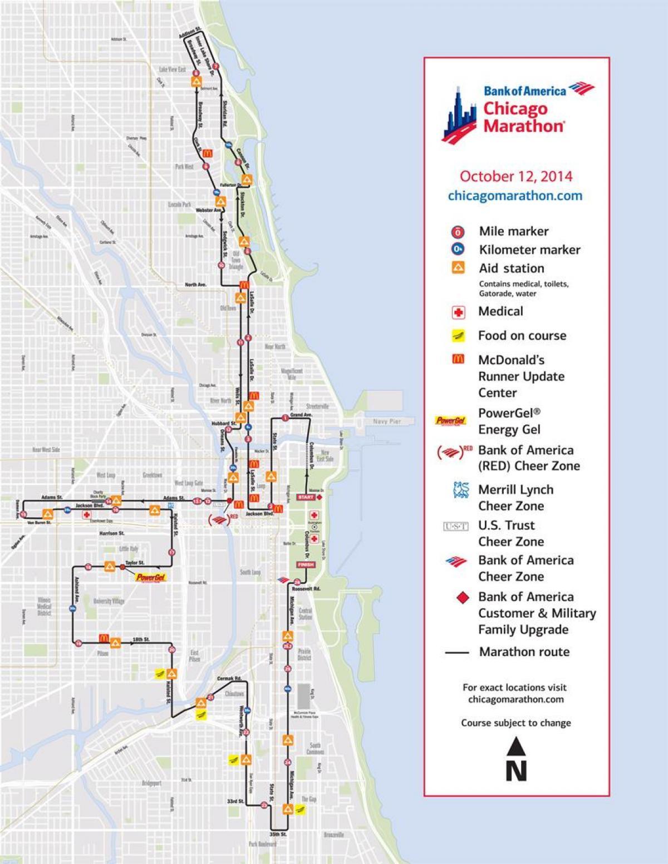 chicago marathon map - chicago marathon race map (united
