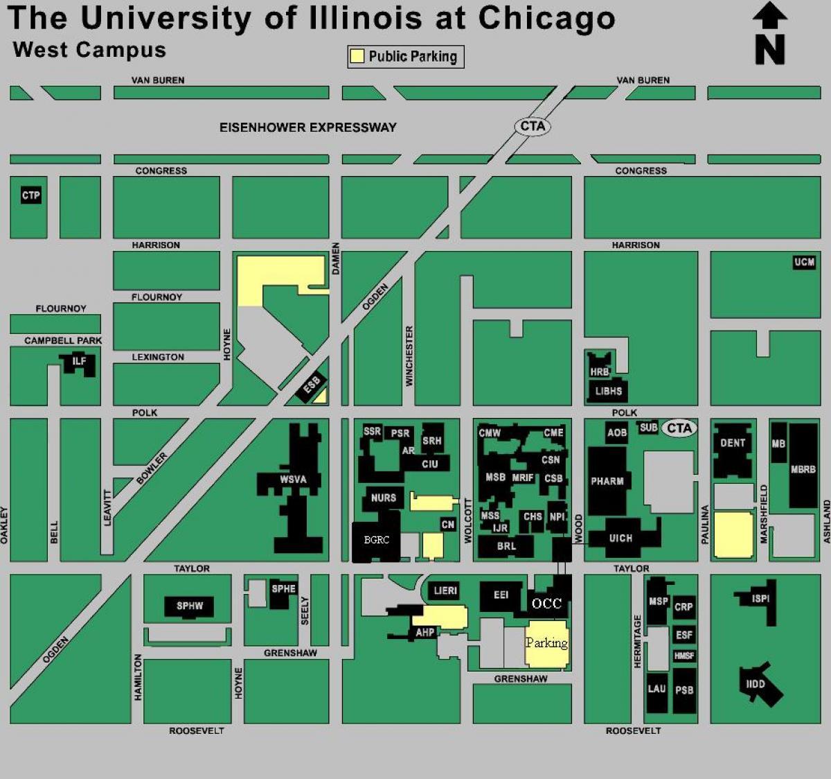 Uic Campus Map Map Of Uic Campus United States Of America