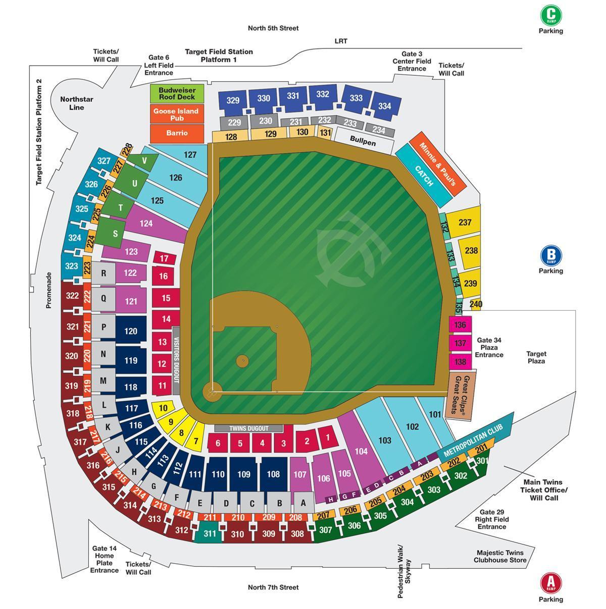 Chicago Subway Map Wrigley Field.Wrigley Field Map Wrigley Field Seating Map With Seat Numbers
