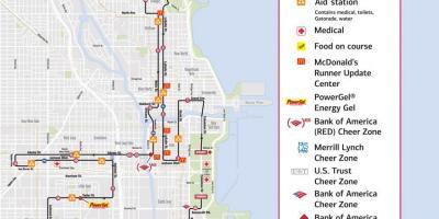 Chicago marathon map Chicago marathon race map United States of